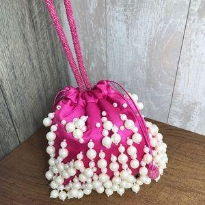 Women's Purse Bag Small Satin Pink